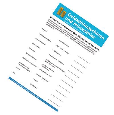 Checkliste Geldzählmaschine
