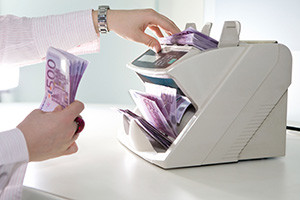 Geldzählmaschine, Geldscheinzähler, Banknotenzähler
