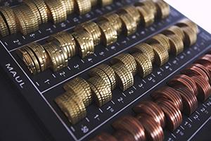 Münzbrett & Zählbrett - Münzen zählen und sortieren, rechnen lernen