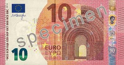 10 Eurobanknoten Abmessung und Gewicht