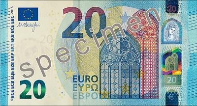 20 Euro Banknoten Abmessung und Gewicht