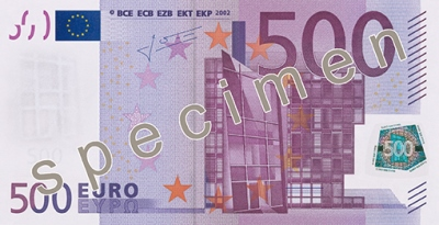 500 Euro Banknote Abmessung