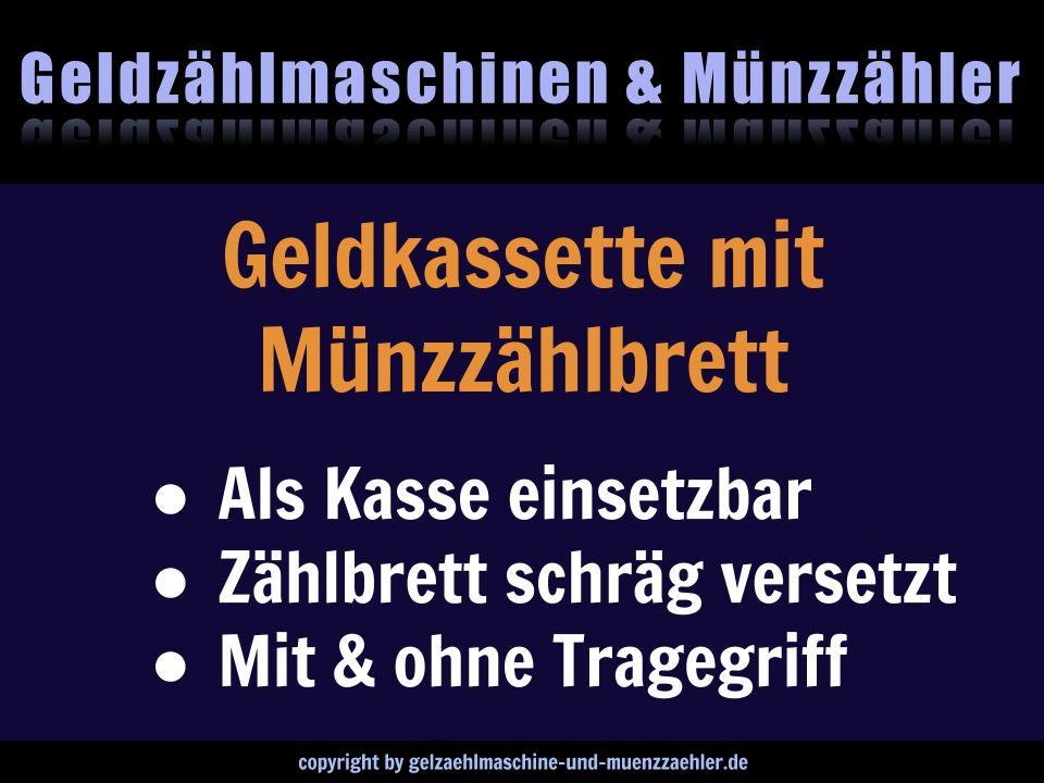 Geldkassette mit Münzzählbrett und mit Tragegriff - 2 Kaufempfehlungen